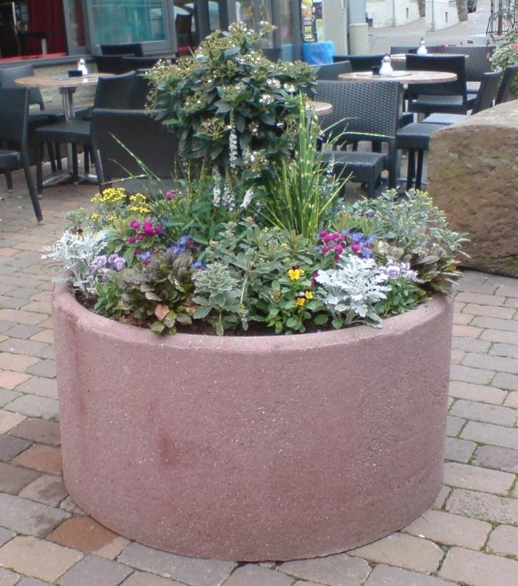 Runde Pflanzgefäße Sandstein Effekt Blumenkübel ...