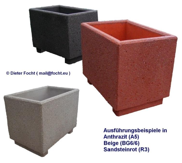 focht beton blumenk sten pflanzgef e sandstein effekt. Black Bedroom Furniture Sets. Home Design Ideas