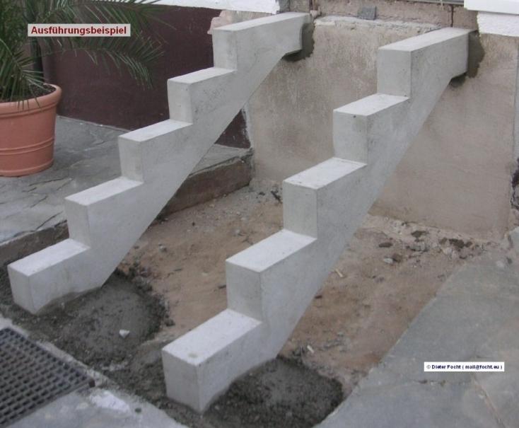 Focht Beton Ausfuhrungsbeispiel Treppen Freitragend Treppenwangen